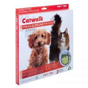 Pet Tek Catwalk Cat Small Dog Door For Glass